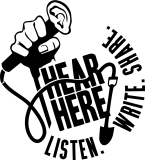 Hear Hear LISTEN WRITE SHARE LOGO _black